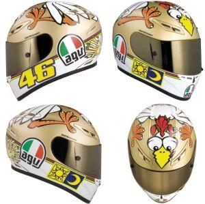 Куриный шлем AGV Валентино Росси