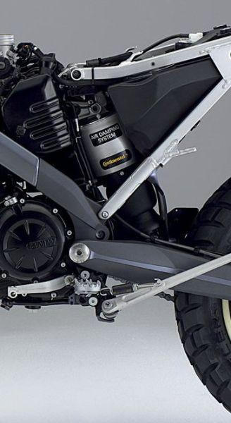 Устройство задней подвески мотоцикла. Пневматический амортизатор BMW G650 Xchallange 2007