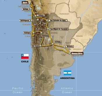 Дакар 2011 состоится в Южной Америке
