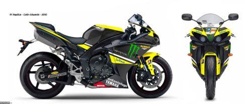 Гоночная реплика Yamaha YZF-R1 Colin Edwards