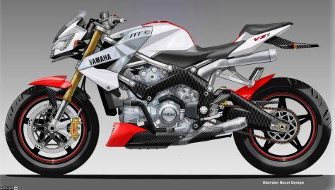 Концепт стрита Yamaha VZ1 от Обердана Бецци