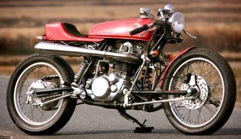 """""""No.019"""" от Skull Motorcycles Yamaha SR400"""
