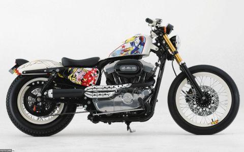 Яркий Harley-Davidson 883 Sportster как агитационный инструмент