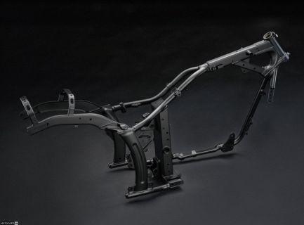 Стальная дуплексная рама Yamaha XVS950A в разрезе