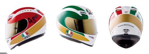 AGV выпускает реплики шлемов в честь чемпионов прошлого
