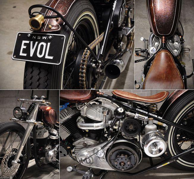 Turbo My Harley: Турбированный олд-скул кастом от Evolution Custom