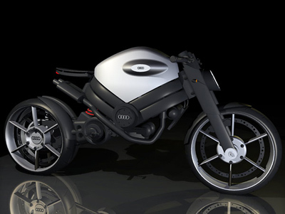 Концепт мотоцикла от Audi и дизайнера Bertrand Bach