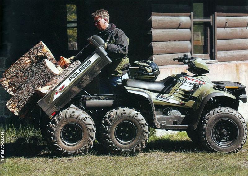 Трехосный одноместный грузовой вариант Polaris Sportsman