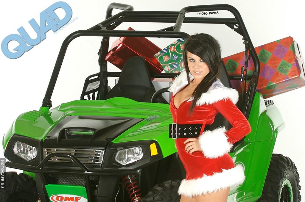 Симпотичная Мишель и UTV Polaris Ranger RZR