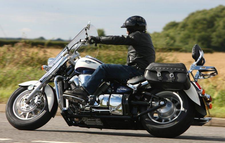 Туристический мотоцикл Suzuki Intruder C1800RT снабжен громадным...